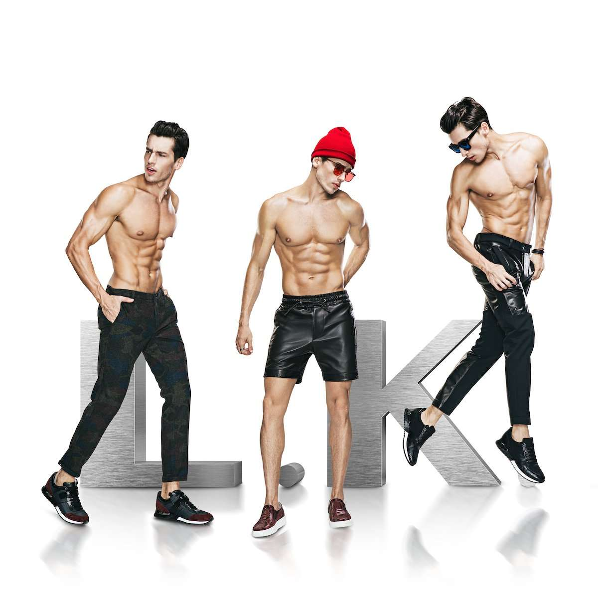 Studio photographs of male model wearing LKDL clothing brand, by AsiaPhoto photographer Lance Lee.